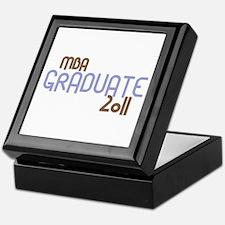 MBA Graduate 2011 (Retro Purple) Keepsake Box