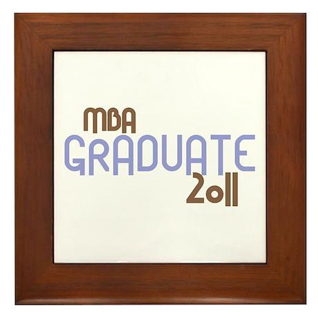 MBA Graduate 2011 (Retro Purple) Framed Tile