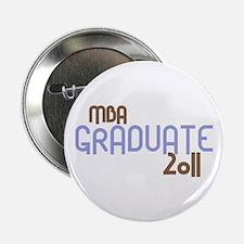 """MBA Graduate 2011 (Retro Purple) 2.25"""" Button"""