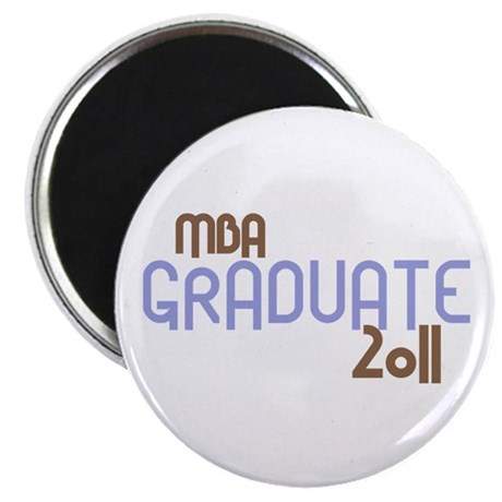 MBA Graduate 2011 (Retro Purple) Magnet