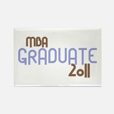 MBA Graduate 2011 (Retro Purple) Rectangle Magnet