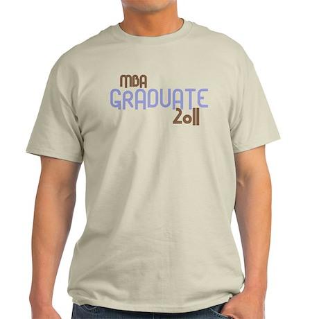 MBA Graduate 2011 (Retro Purple) Light T-Shirt