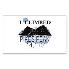 I Climbed Pikes Peak Decal