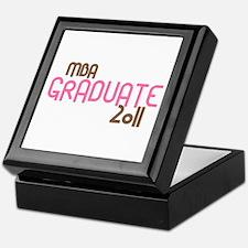 MBA Graduate 2011 (Retro Pink) Keepsake Box