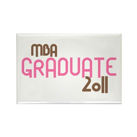 MBA Graduate 2011 (Retro Pink) Rectangle Magnet (1
