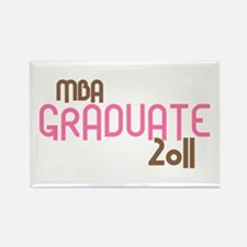 MBA Graduate 2011 (Retro Pink) Rectangle Magnet