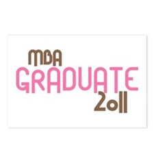 MBA Graduate 2011 (Retro Pink) Postcards (Package