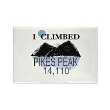 I Climbed Pikes Peak Rectangle Magnet