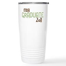 MBA Graduate 2011 (Retro Green) Travel Mug