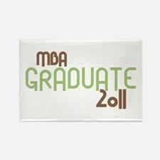 MBA Graduate 2011 (Retro Green) Rectangle Magnet