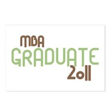MBA Graduate 2011 (Retro Green) Postcards (Package