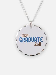 MBA Graduate 2011 (Retro Blue) Necklace