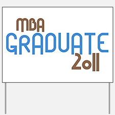 MBA Graduate 2011 (Retro Blue) Yard Sign