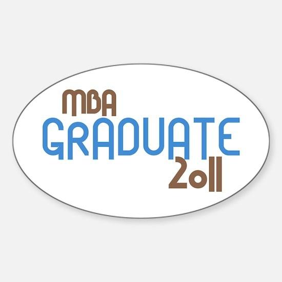 MBA Graduate 2011 (Retro Blue) Sticker (Oval)