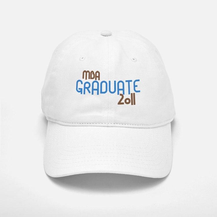 MBA Graduate 2011 (Retro Blue) Baseball Baseball Cap