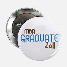 """MBA Graduate 2011 (Retro Blue) 2.25"""" Button"""