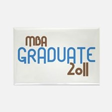 MBA Graduate 2011 (Retro Blue) Rectangle Magnet