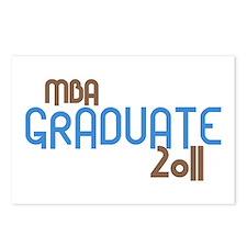 MBA Graduate 2011 (Retro Blue) Postcards (Package