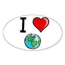 I Heart Earth Decal