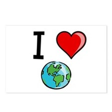 I Heart Earth Postcards (Package of 8)