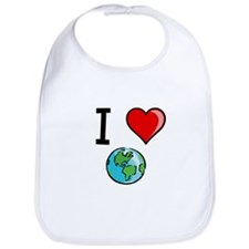 I Heart Earth Bib