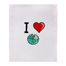 I Heart Earth Throw Blanket
