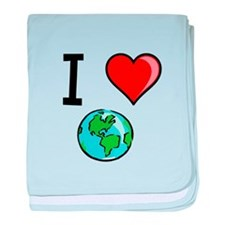 I Heart Earth baby blanket