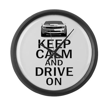 Camaro - Keep Calm Large Wall Clock