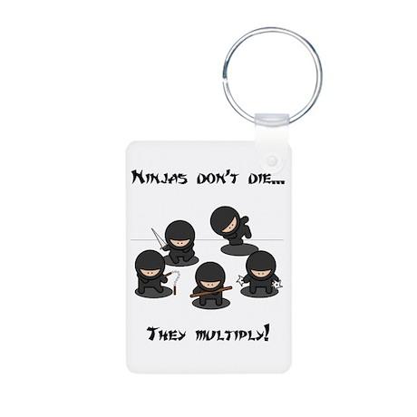 Ninjas Multiply Aluminum Photo Keychain