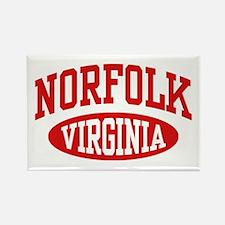 Norfolk Virginia Rectangle Magnet