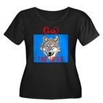 The Cherokee Wolf Women's Plus Size Scoop Neck Dar