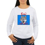 The Cherokee Wolf Women's Long Sleeve T-Shirt