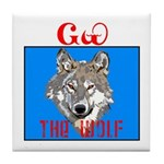 The Cherokee Wolf Tile Coaster