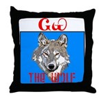 The Cherokee Wolf Throw Pillow