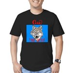 The Cherokee Wolf Men's Fitted T-Shirt (dark)