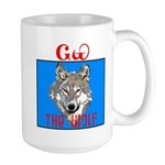 The Cherokee Wolf Large Mug