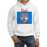 The Cherokee Wolf Hooded Sweatshirt