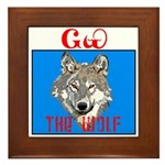 The Cherokee Wolf Framed Tile