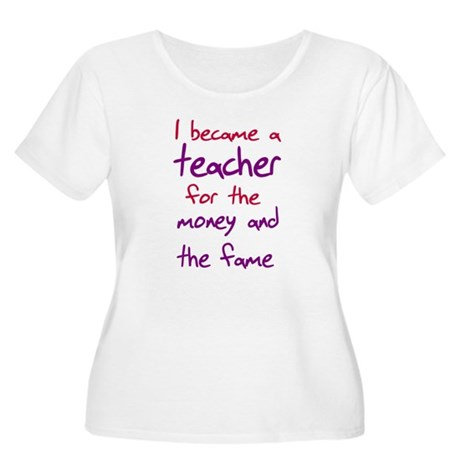 Funny teacher shirts humoring Women's Plus Size Sc