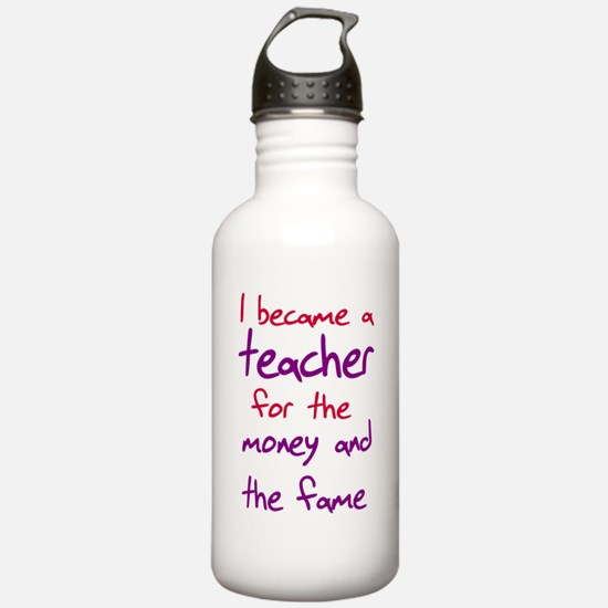 Funny teacher shirts humoring Sports Water Bottle