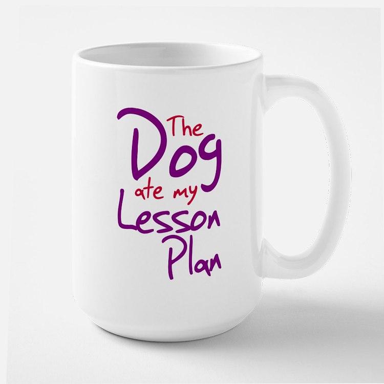 Funny teacher shirts humoring Large Mug