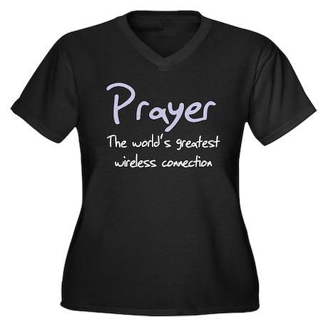Prayer The World's Greatest W Women's Plus Size V-