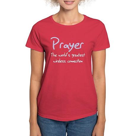 Prayer The World's Greatest W Women's Dark T-Shirt