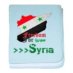 Freedom for Syria baby blanket