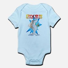 Shark eats Diver Infant Bodysuit