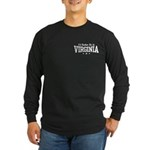 I'd Rather Be In Virginia Long Sleeve Dark T-Shirt
