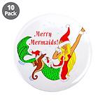 "Merry Mermaids 3.5"" Button (10 pack)"