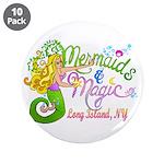 """Mermaid magic 3.5"""" Button (10 pack)"""
