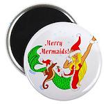 """Merry Mermaids 2.25"""" Magnet (10 pack)"""