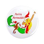 "Merry Mermaids 3.5"" Button (100 pack)"
